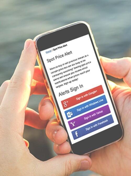 spot price alert on smartphone display